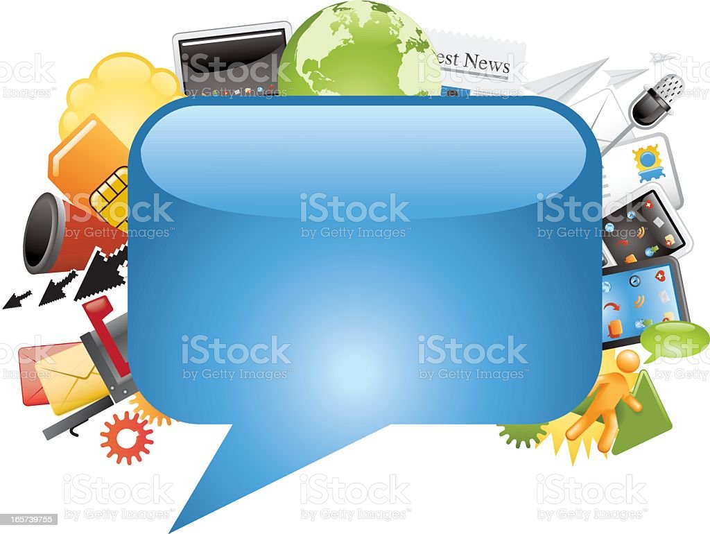 Communications: Icon Frame royalty-free stock vector art