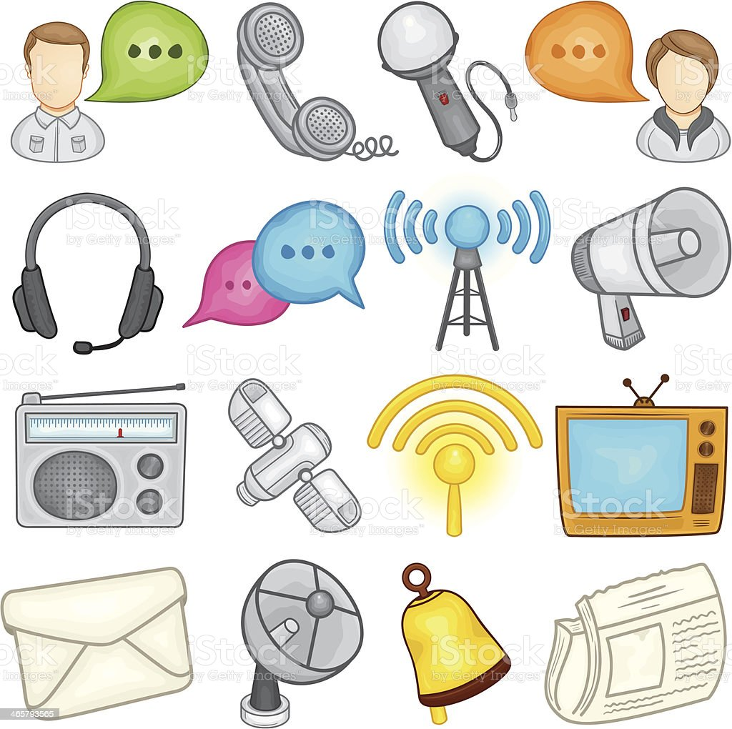 Communications Icon - Illustration vector art illustration