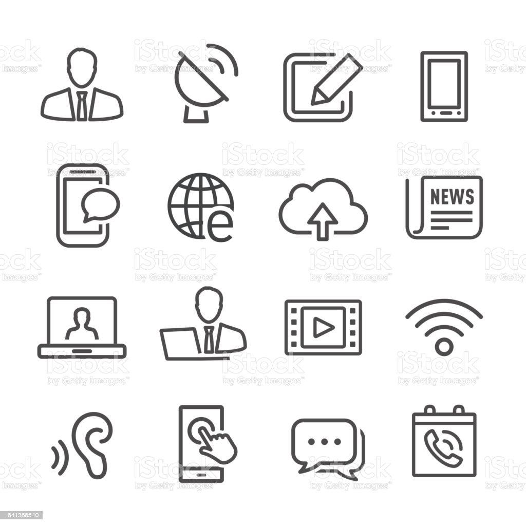 Communications Icons - Line Series vector art illustration