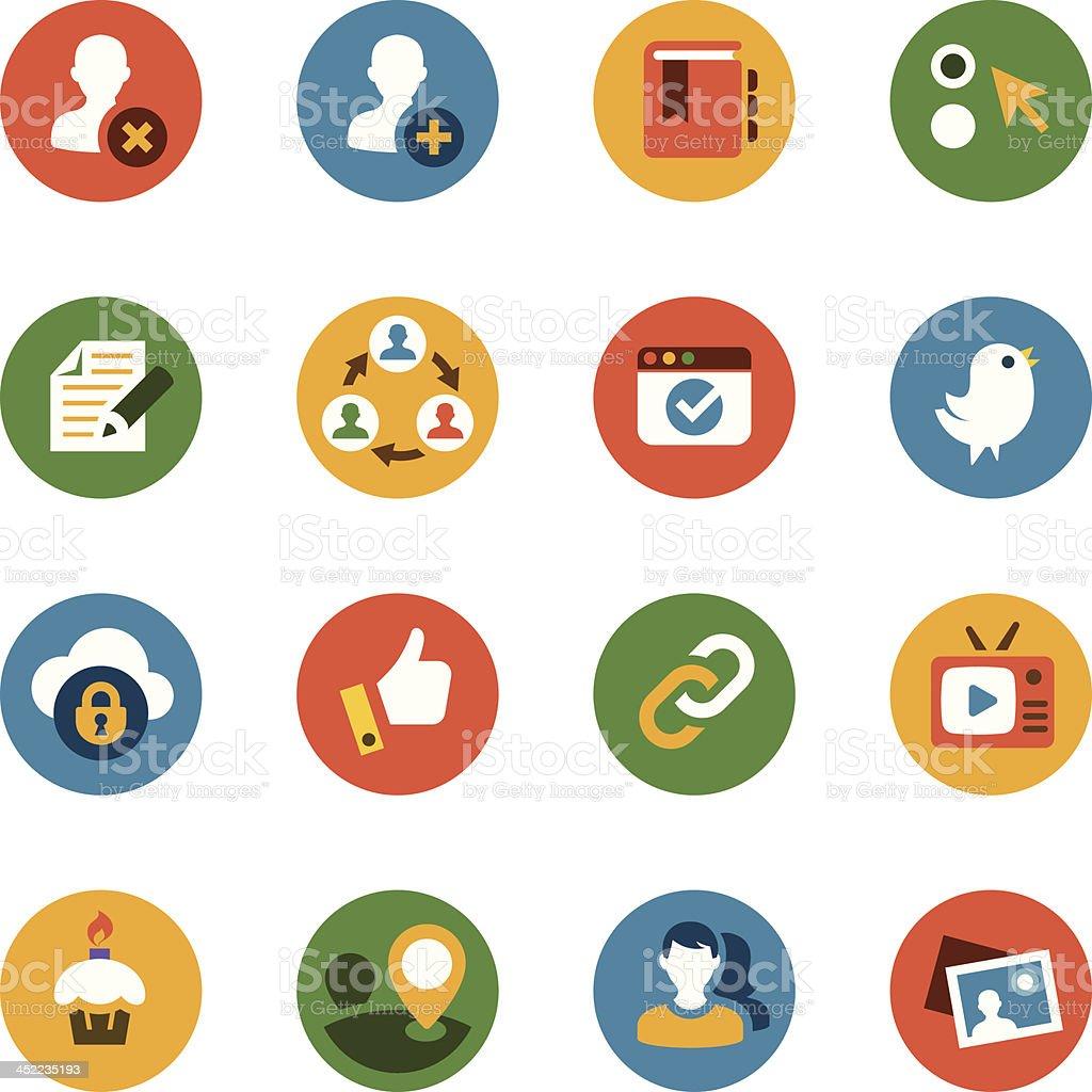 Communications & Social Media Icon Set royalty-free stock vector art
