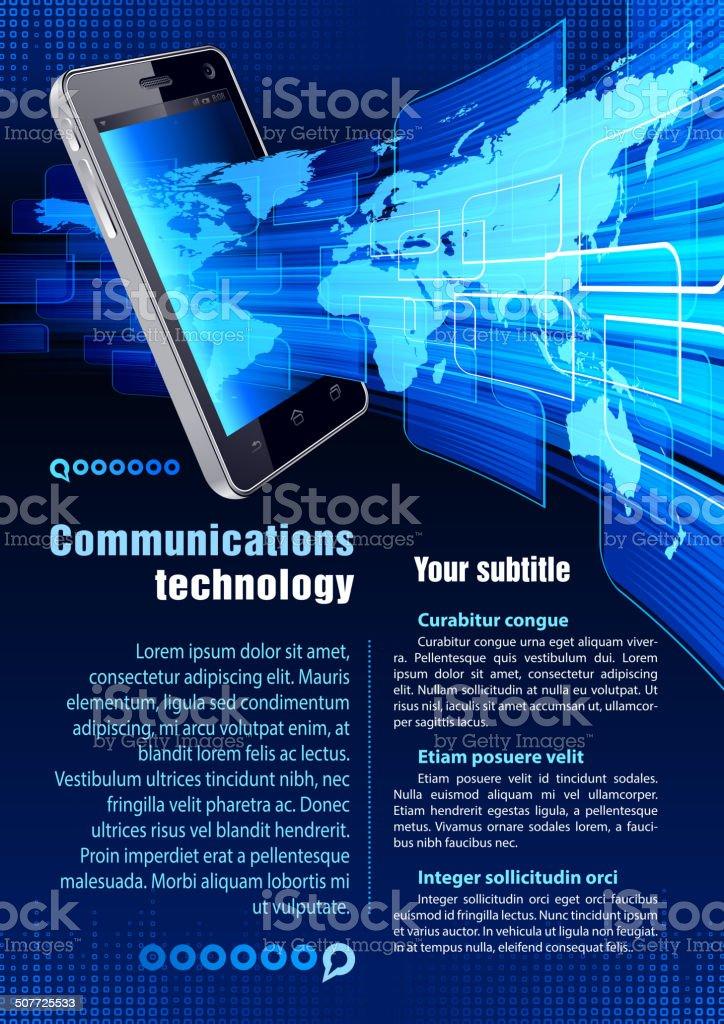 Communications technology royalty-free stock vector art