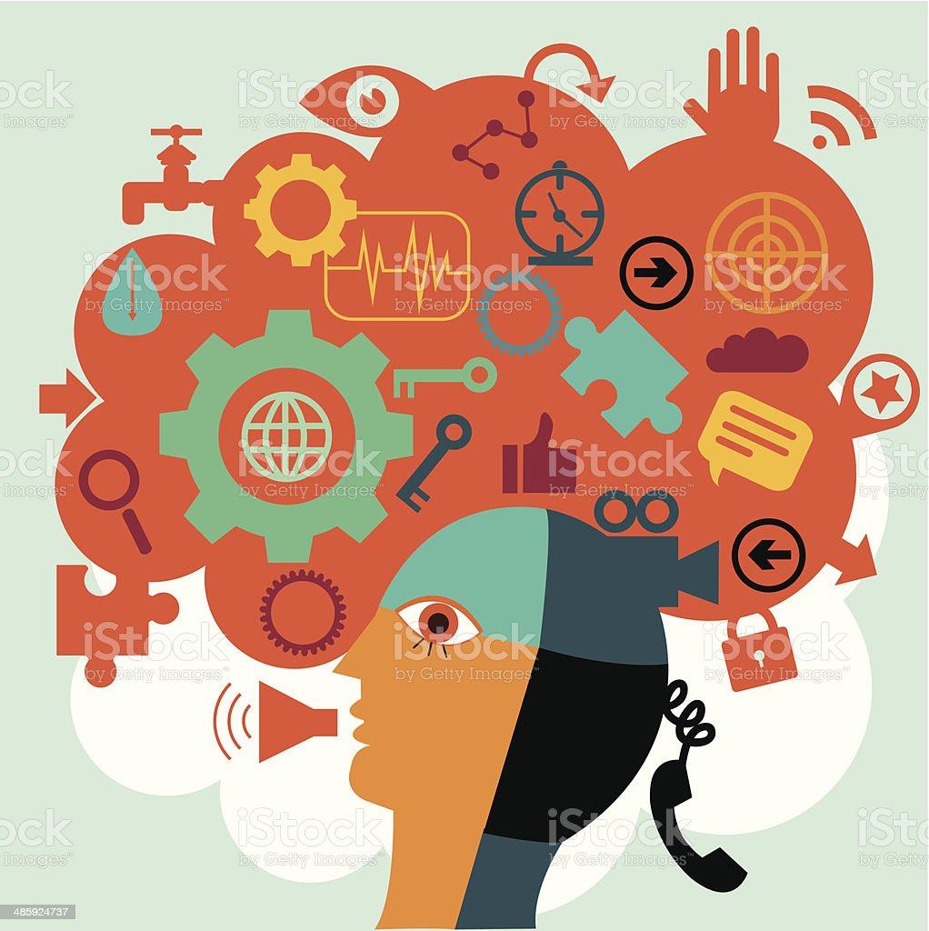 Communications vector art illustration
