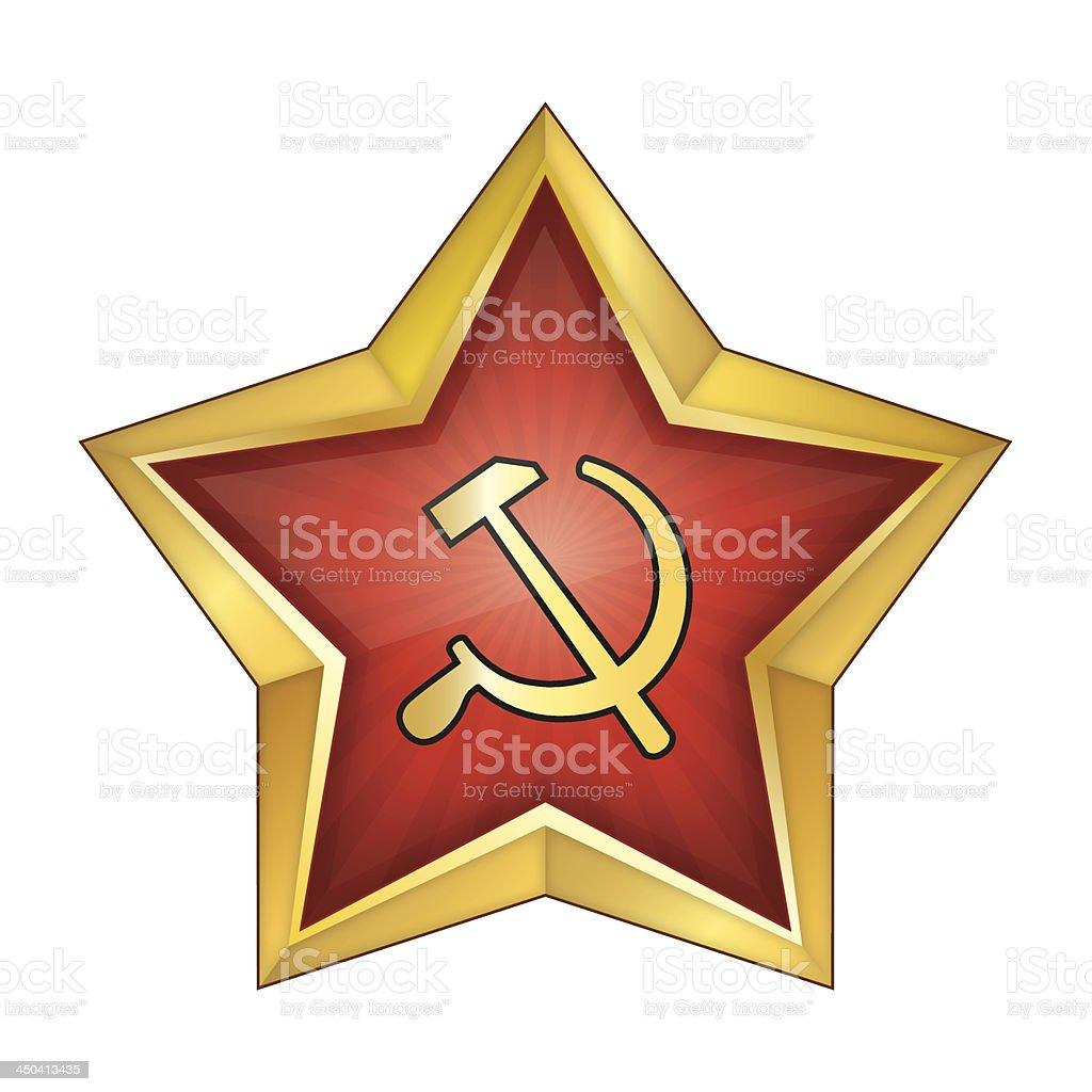 Communist Red Star Vector Illustration royalty-free stock vector art