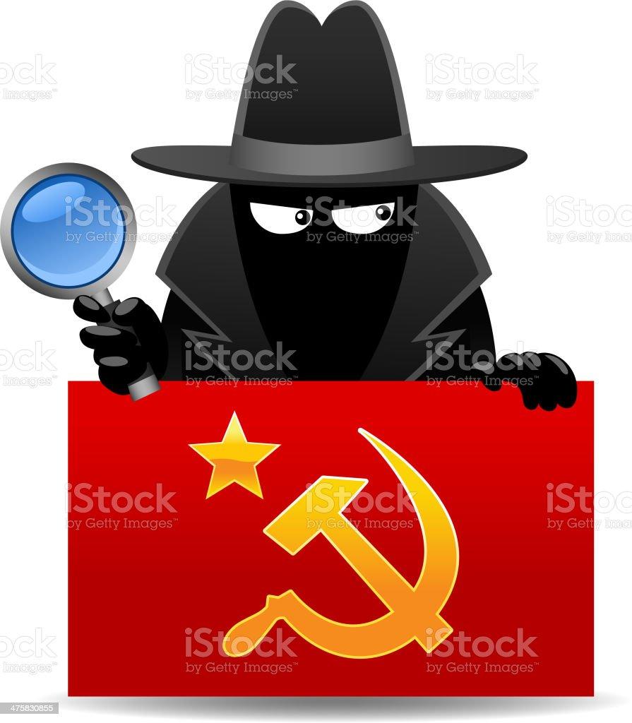 Communist Spy royalty-free stock vector art