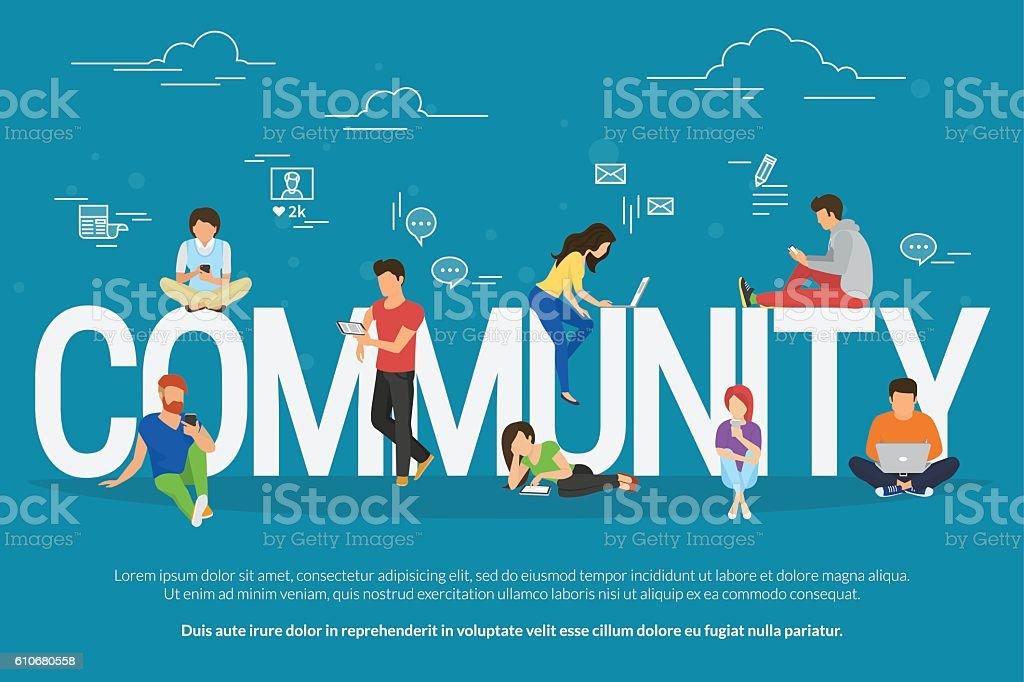 Community concept illustration vector art illustration