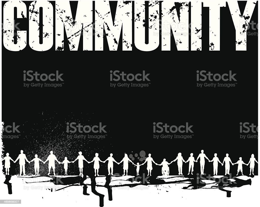 Community - Holding Hands Background royalty-free stock vector art