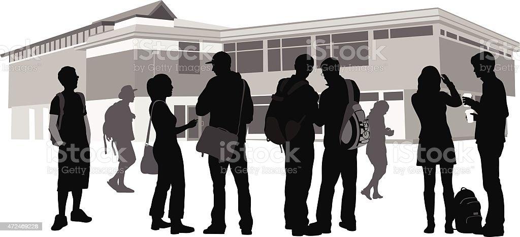 Community Strenght vector art illustration