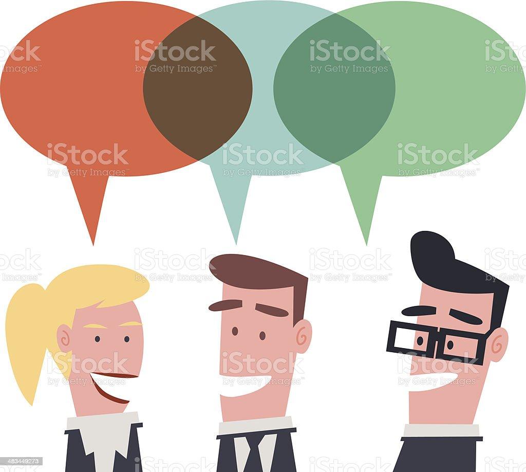 Community vector art illustration