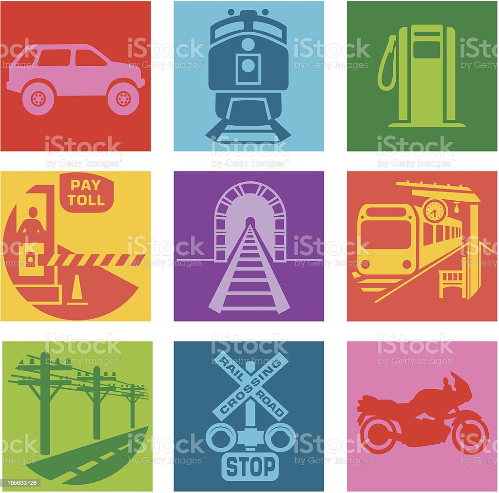 commute royalty-free stock vector art