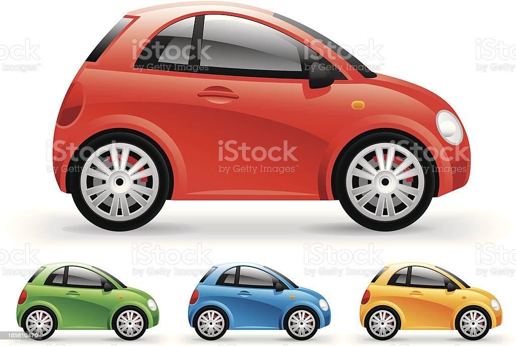 Compact car vector art illustration
