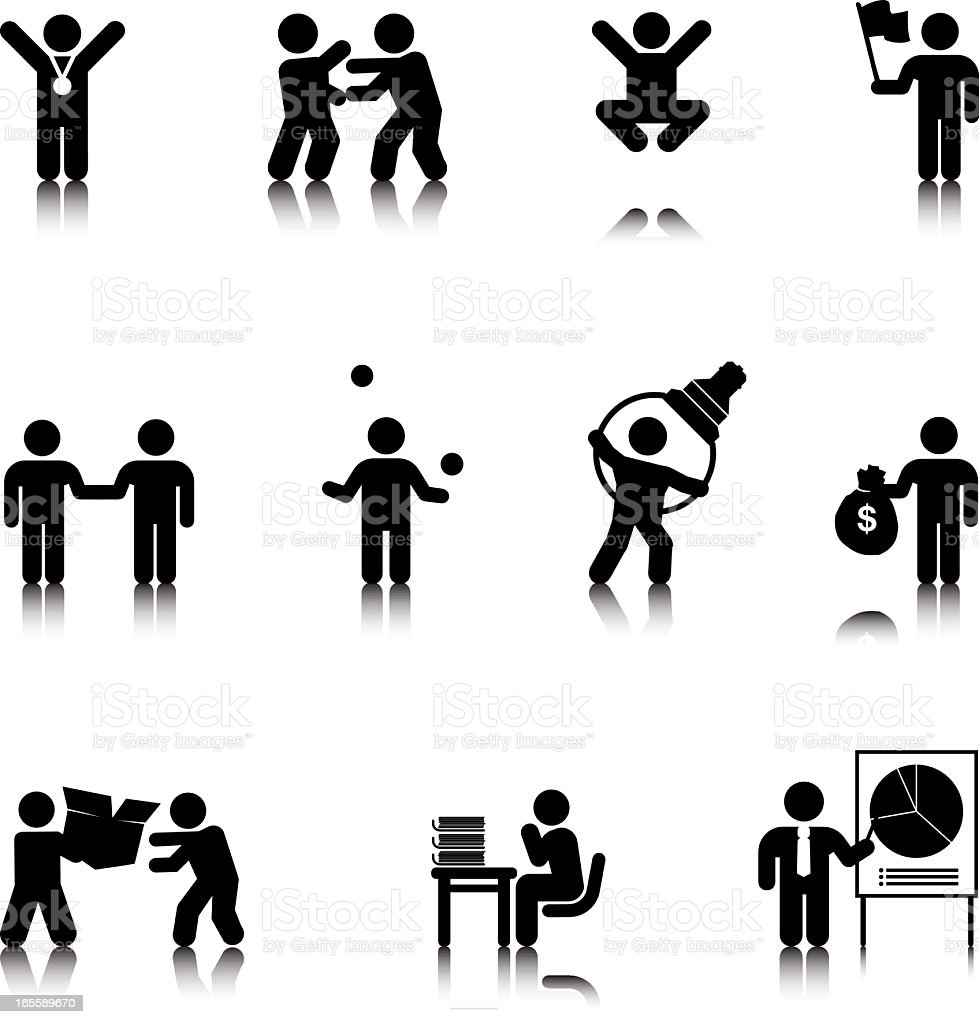 Compact Concepts: Business Silhouettes vector art illustration