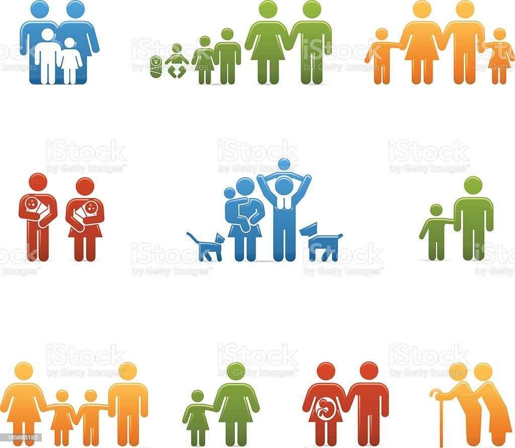 Compact Concepts: Family royalty-free stock vector art