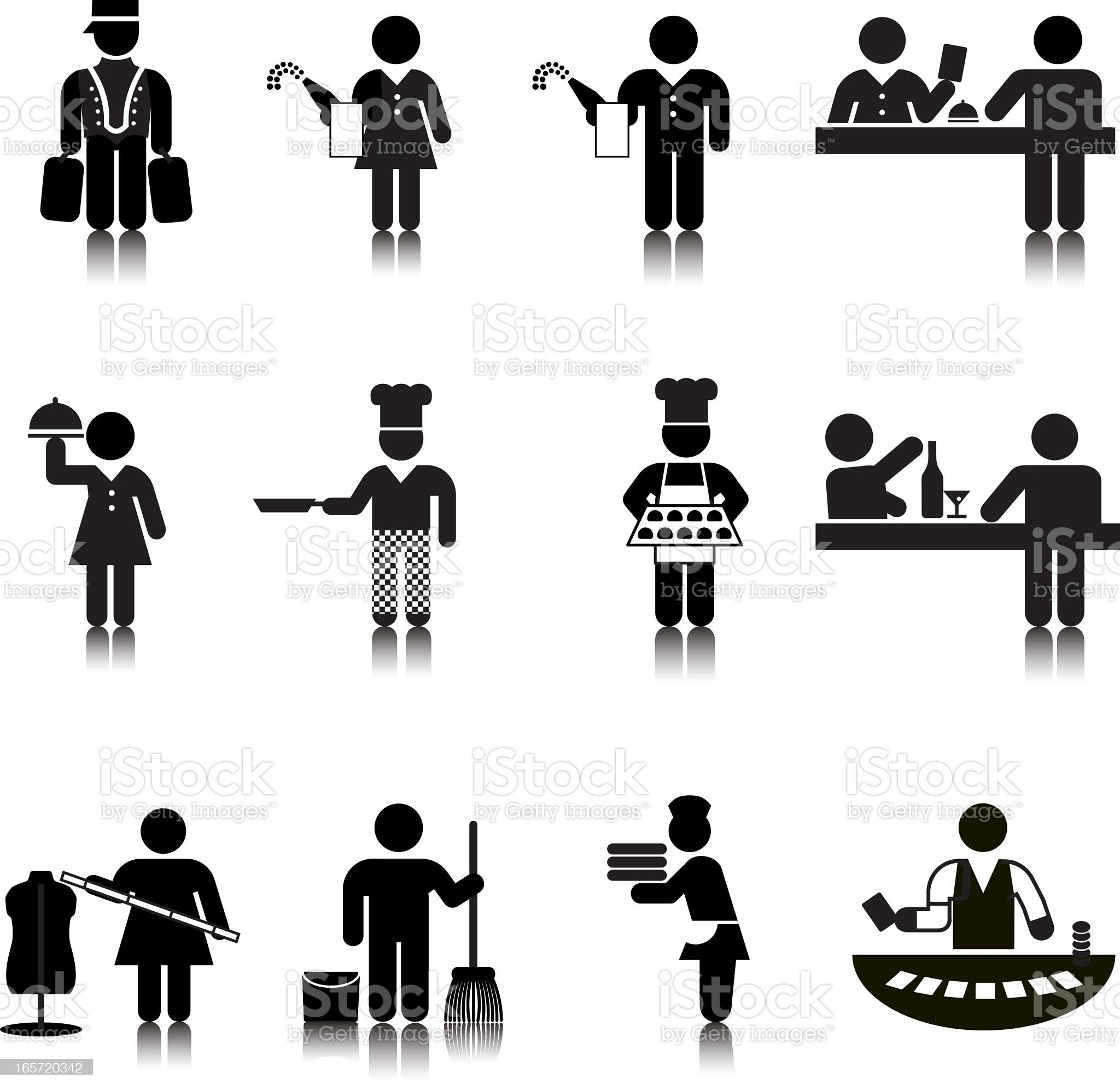 Compact Concepts: Hotel Services royalty-free stock vector art