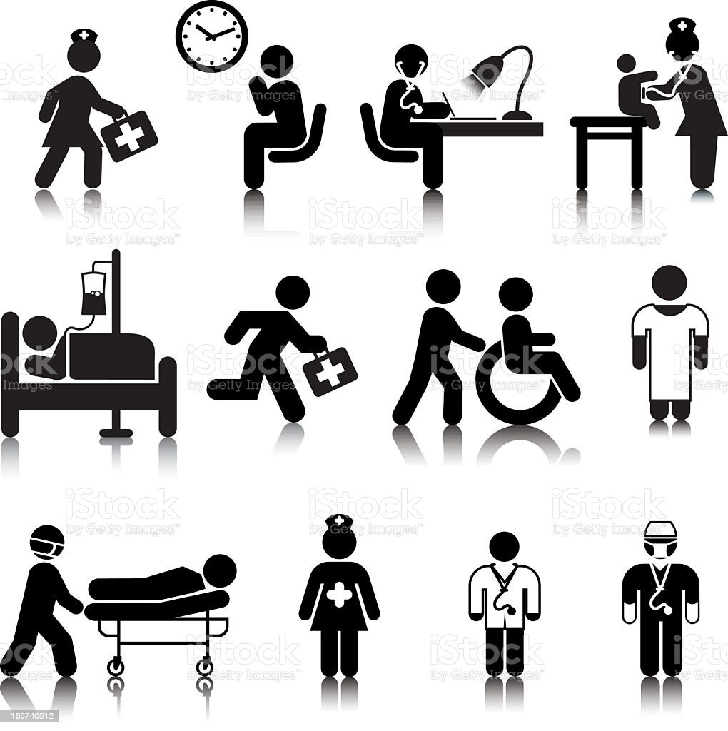 Compact Concepts: Medical Staff vector art illustration