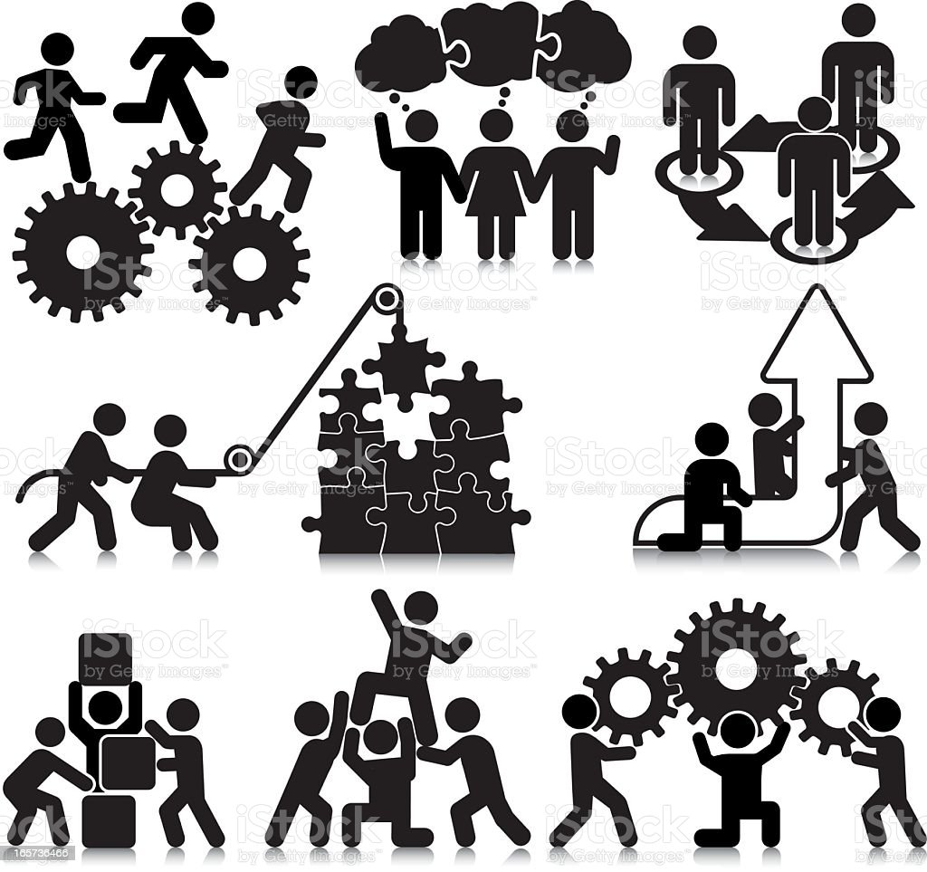 Compact Concepts: Teamwork vector art illustration