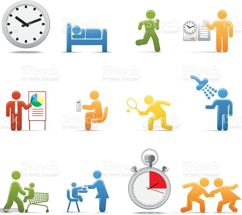 Compact Concepts: Time Management royalty-free stock vector art
