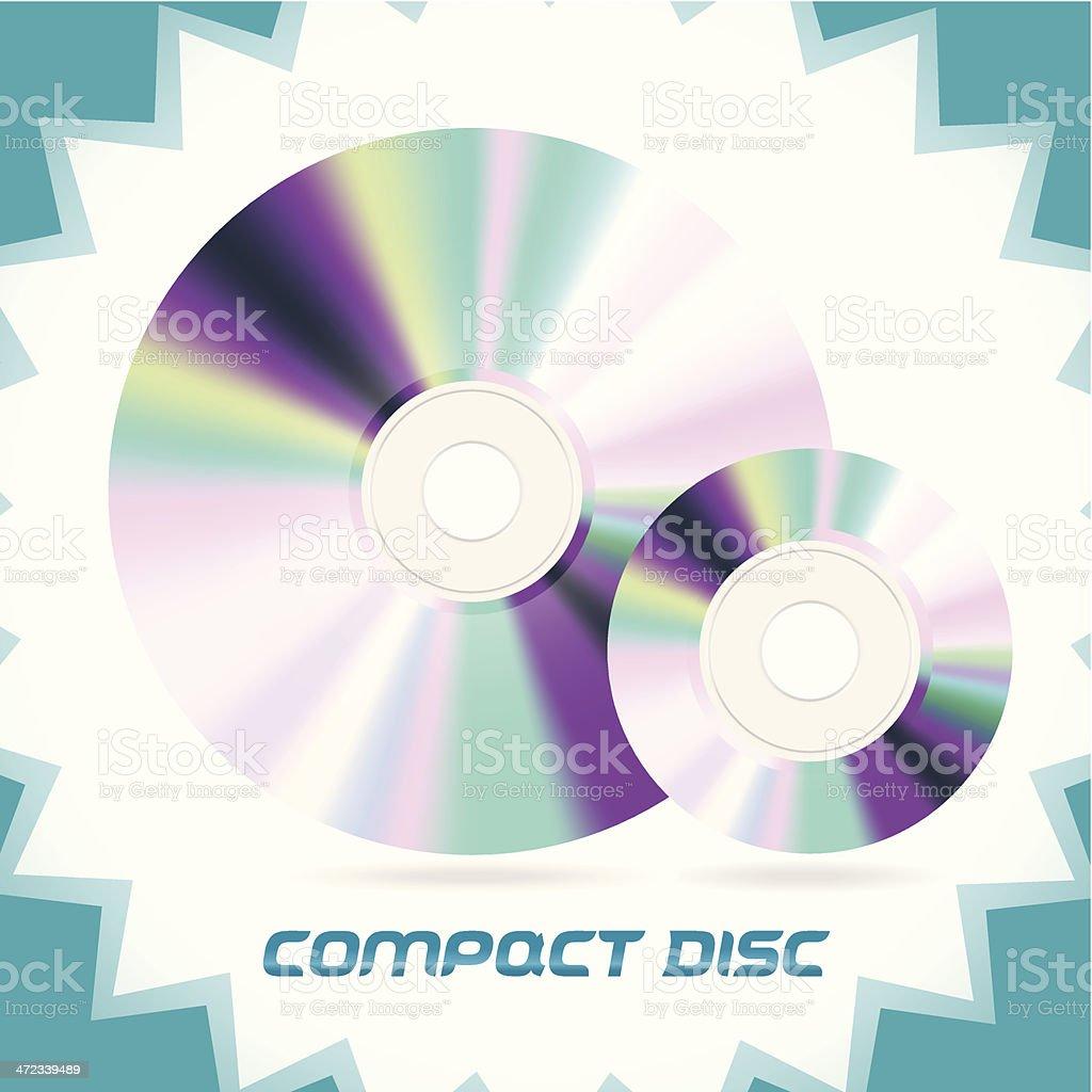 Compact Discs royalty-free stock vector art