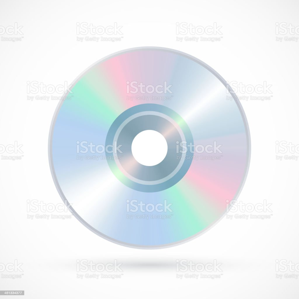 Compact Disk Icon royalty-free stock vector art