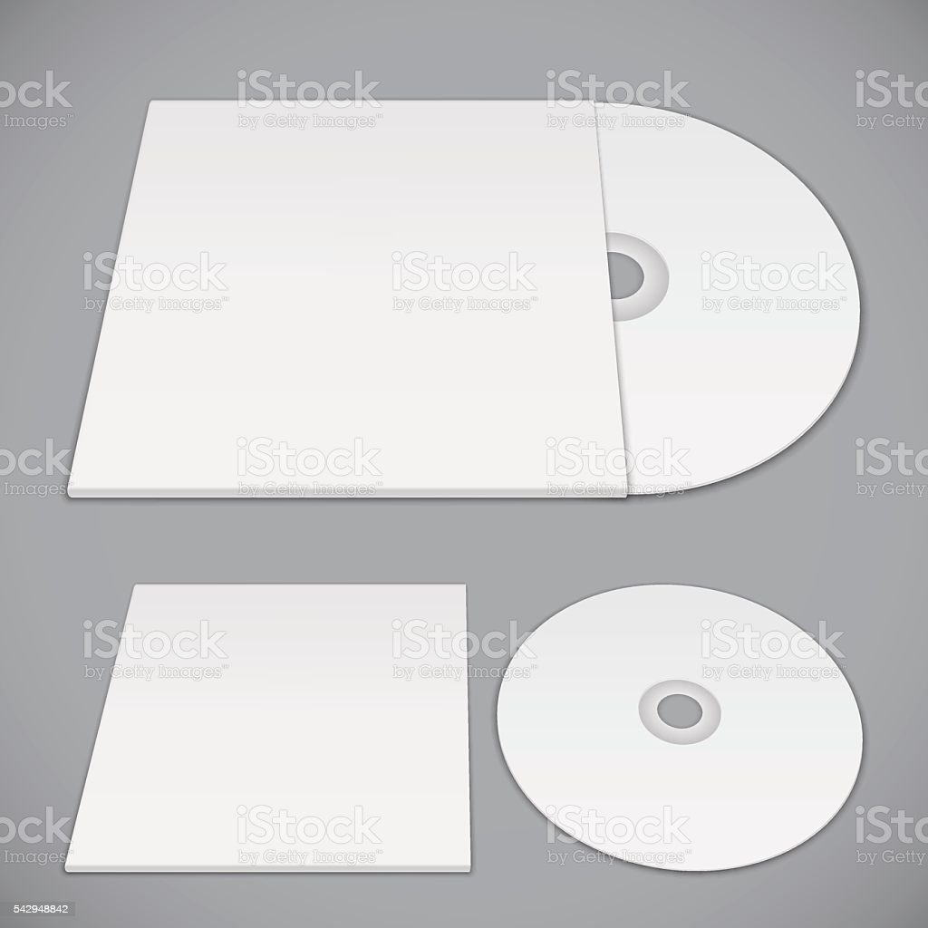 Compact Disk Template vector art illustration