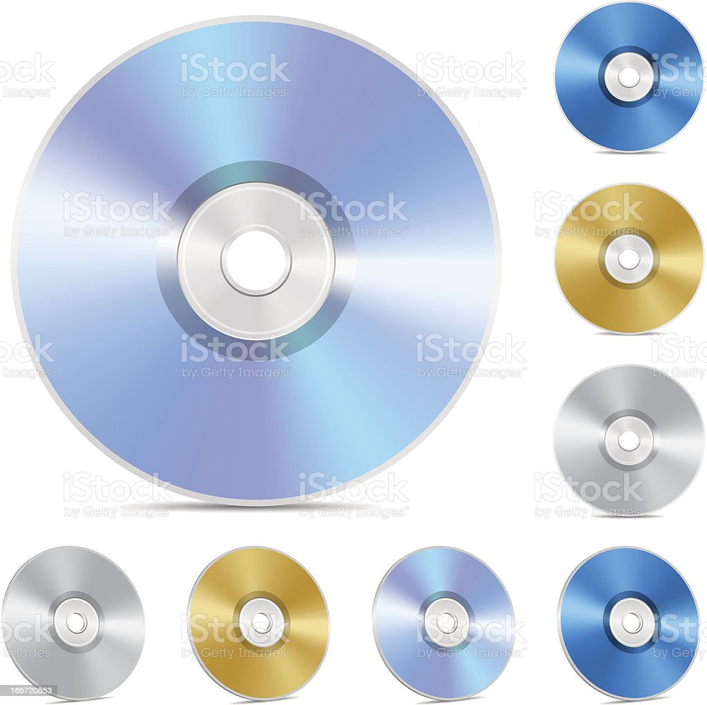 Compact Disk royalty-free stock vector art