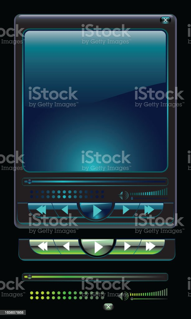 Compact Media Player royalty-free stock vector art