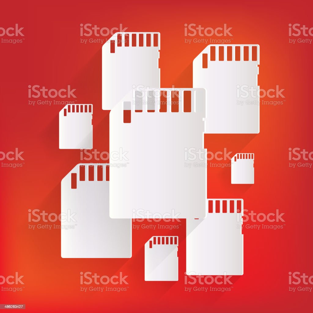 compact memory card icon royalty-free stock vector art