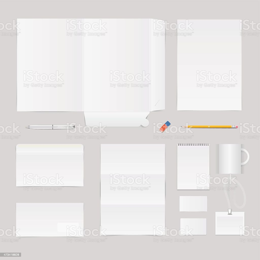 Company corporate template vector art illustration