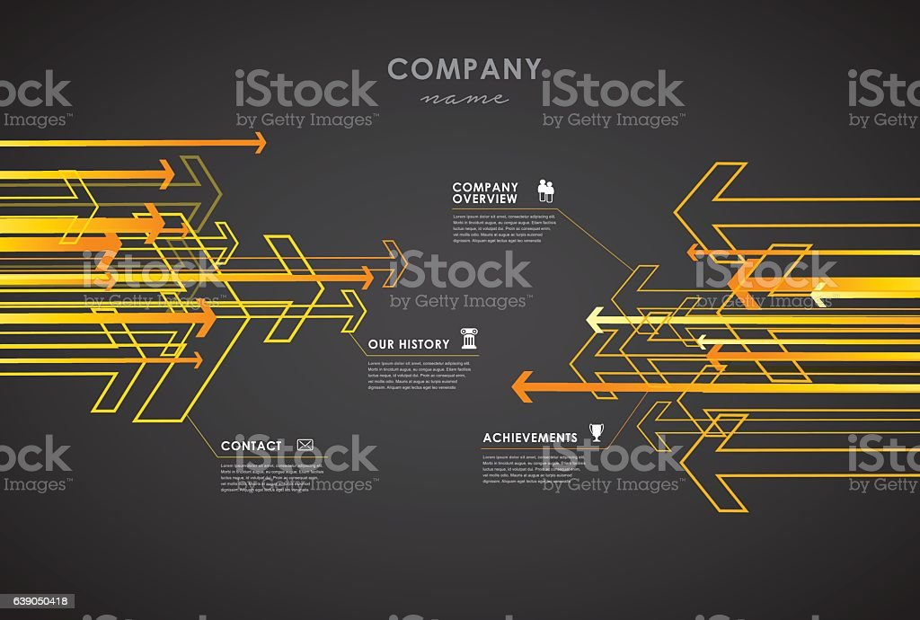 Company infographic overview design template. vector art illustration