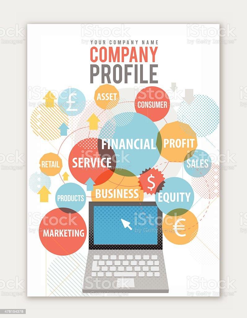 Company Profile cover vector art illustration
