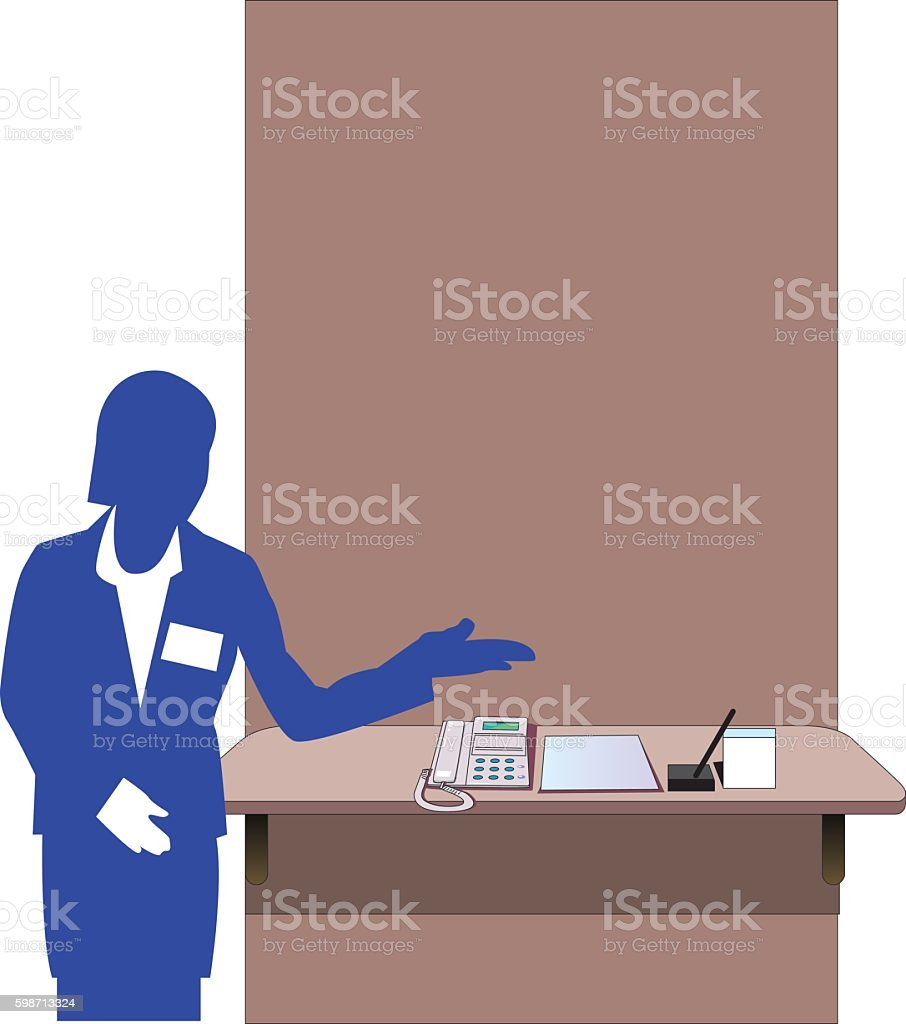 company reception vector art illustration