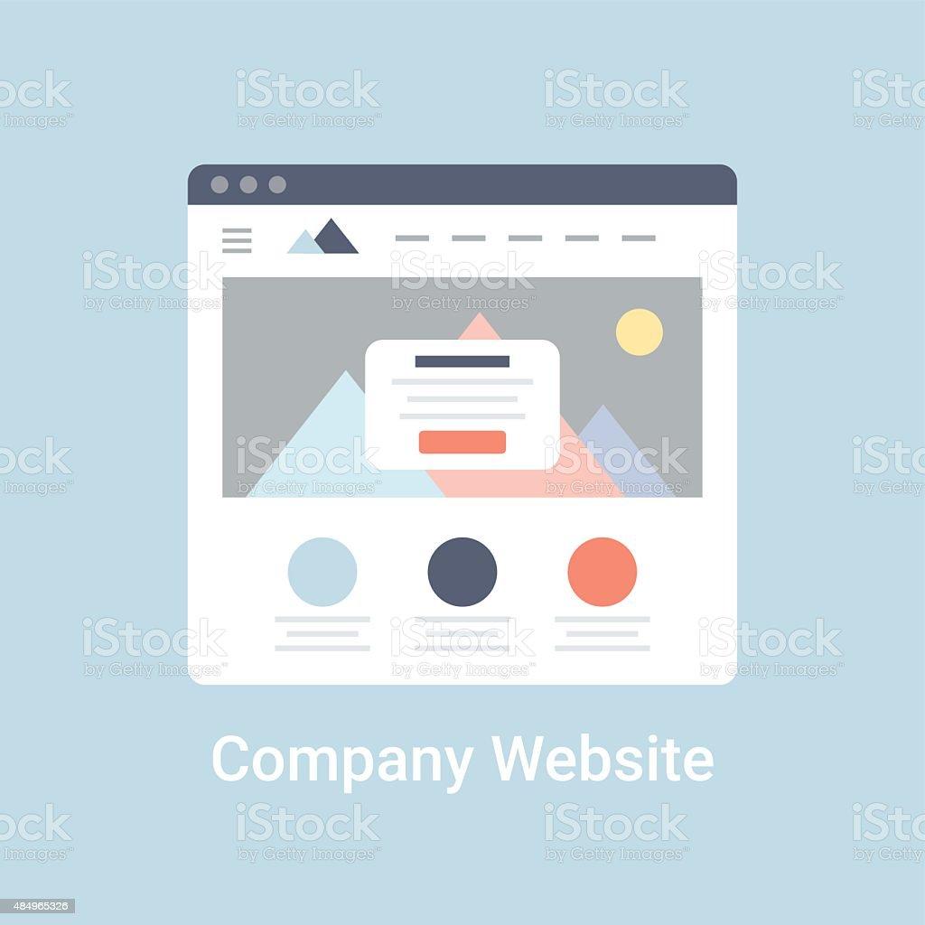 Company Website Wireframe vector art illustration