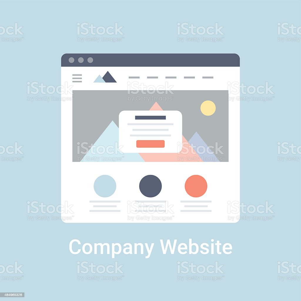 Company Website Wireframe vector art illustration