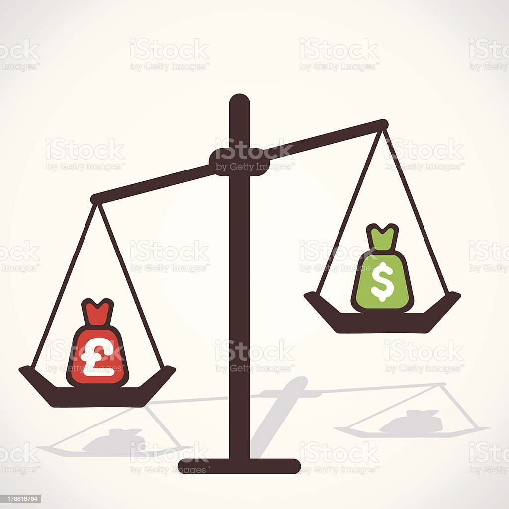 compare currency royalty-free stock vector art