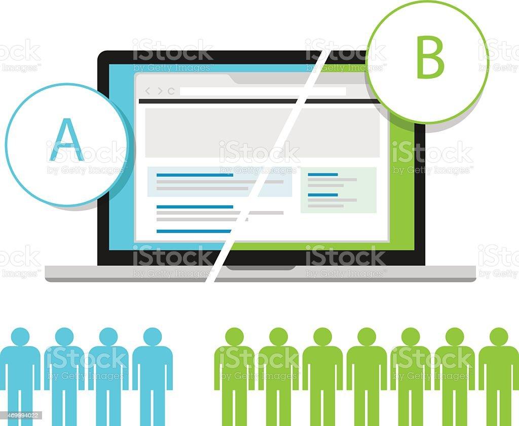Comparison testing model template vector art illustration