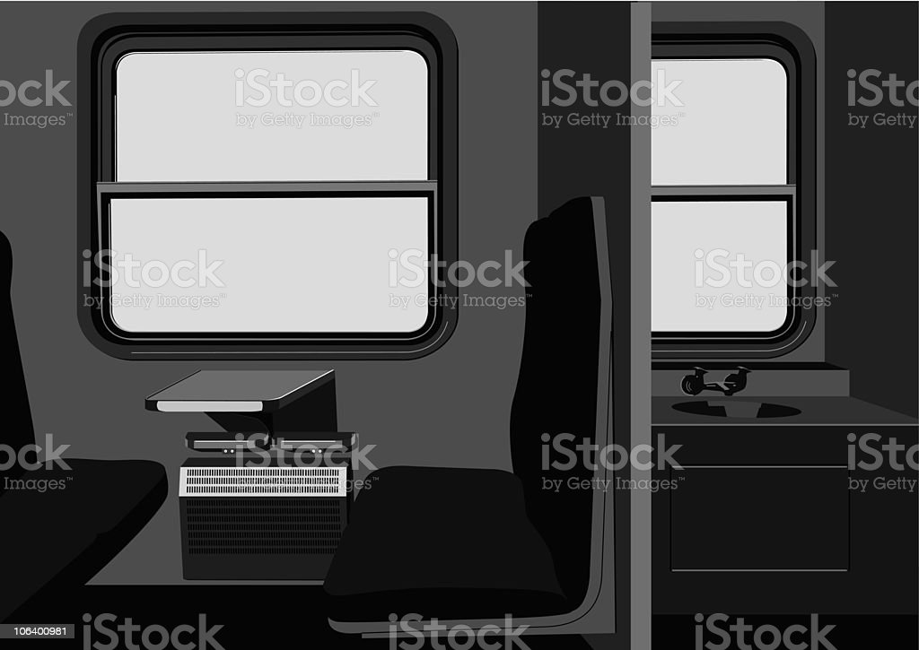compartment in train royalty-free stock vector art
