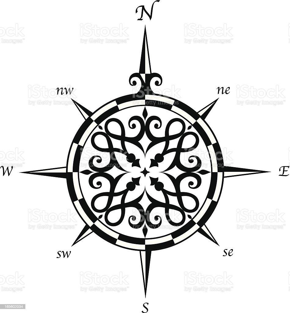 Compass - 1 credit royalty-free stock vector art