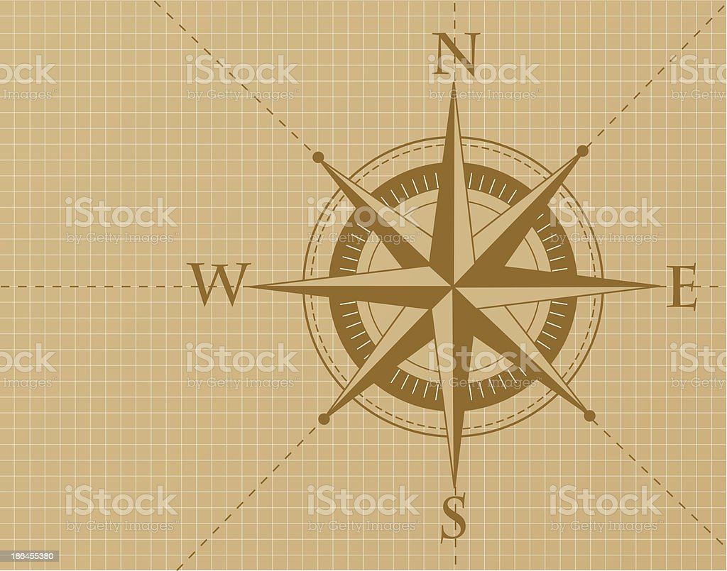Compass Background royalty-free stock vector art