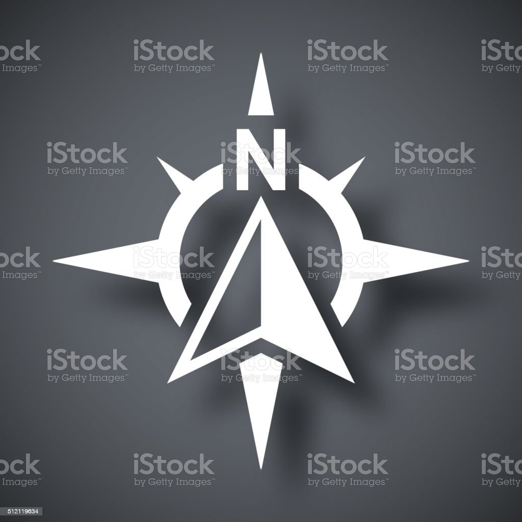 Compass concept icon, vector vector art illustration