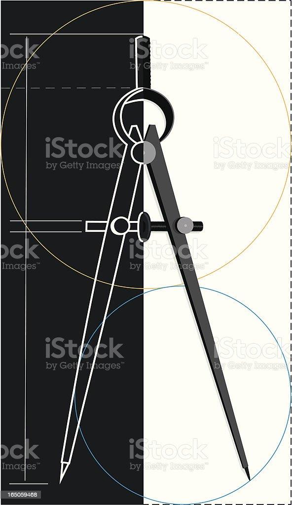 Compass design royalty-free stock vector art