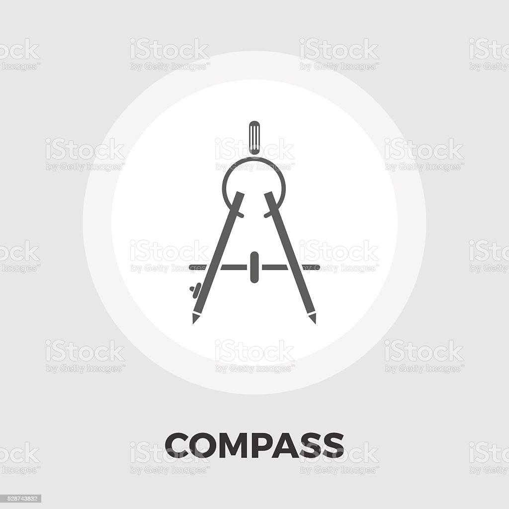 Compass flat icon vector art illustration