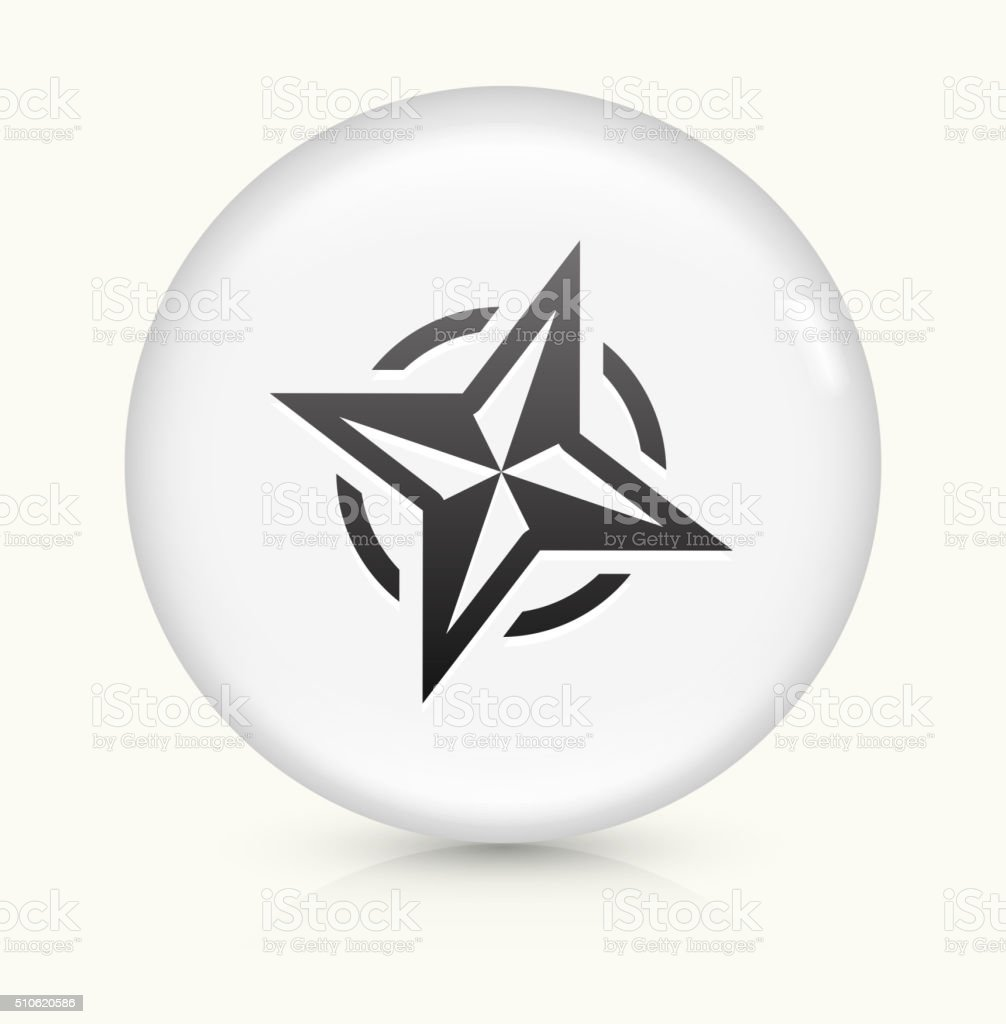 Compass icon on white round vector button vector art illustration