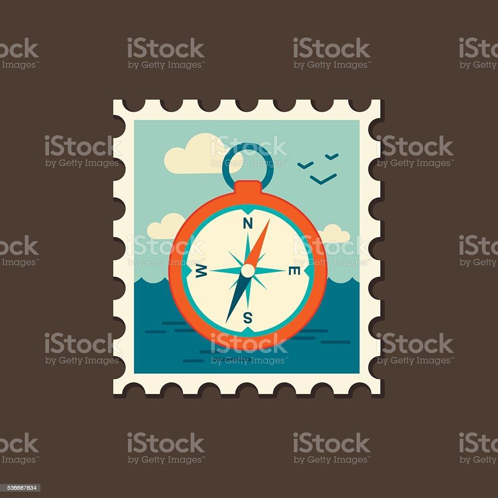 Compass icon. Summer. Marine vector art illustration