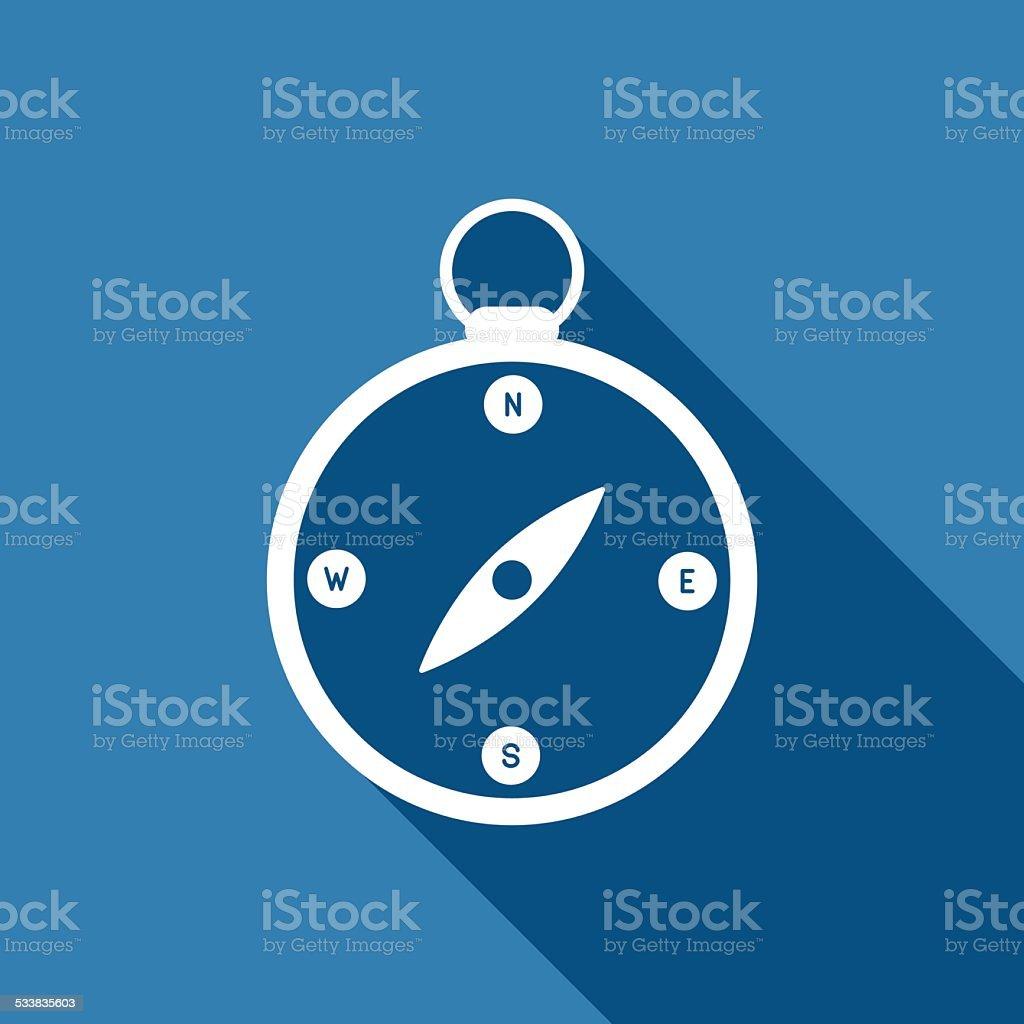 compass icon vector art illustration