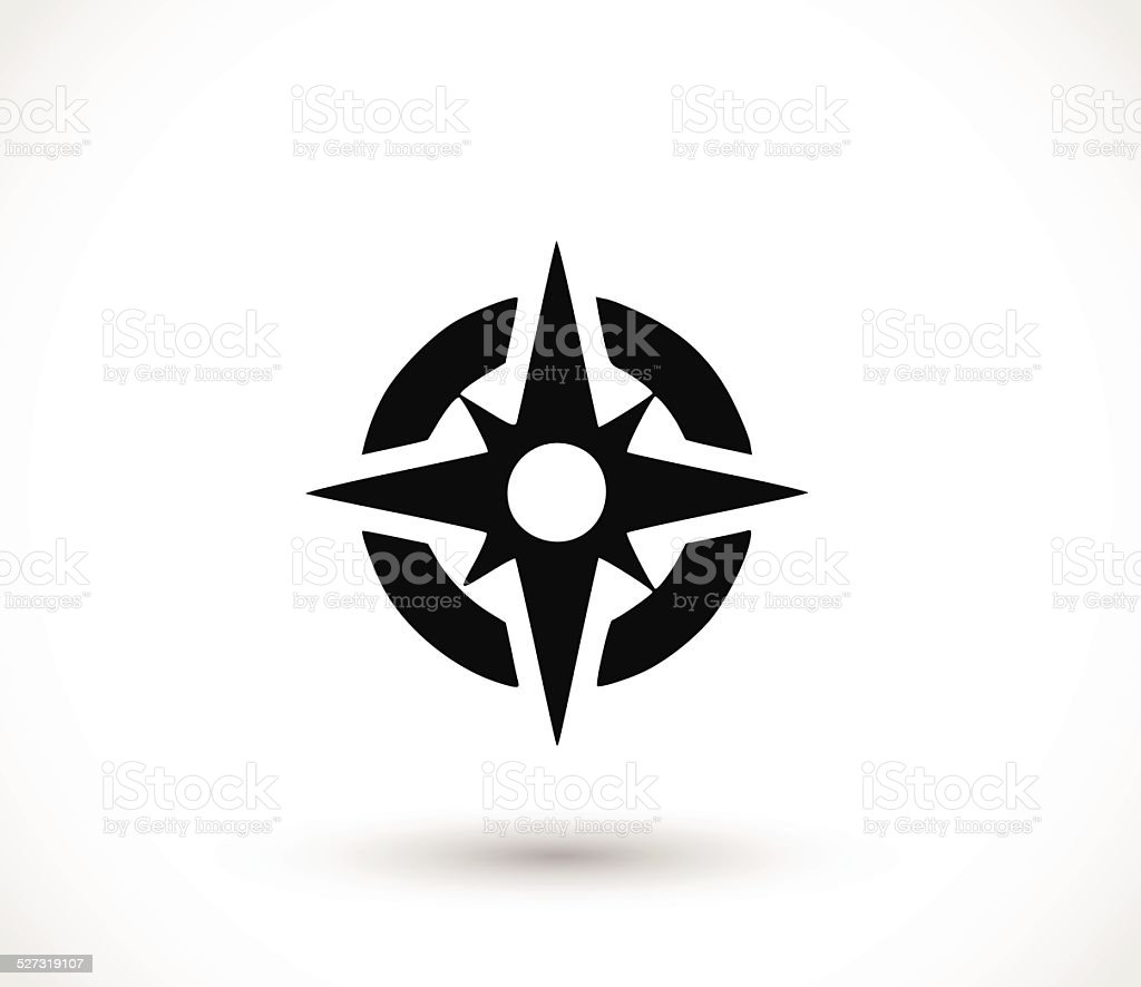 Compass icon vector illustration vector art illustration