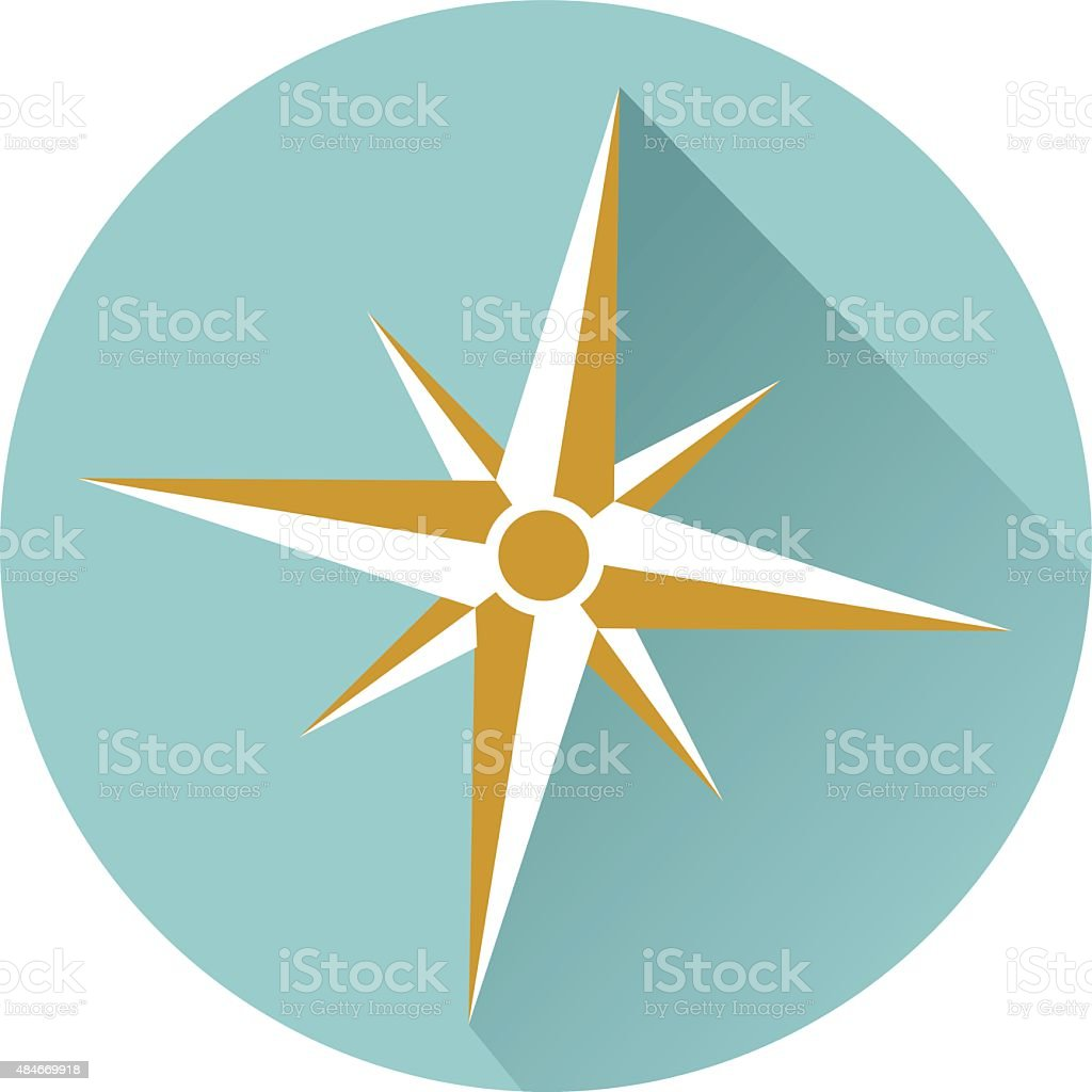 Compass icon vector vector art illustration