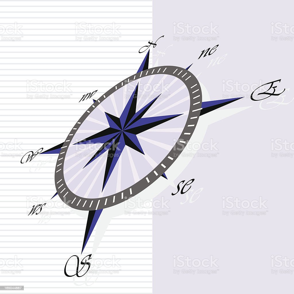 Compass II royalty-free stock vector art