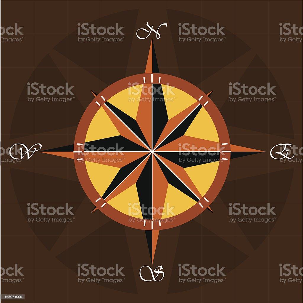 Compass III royalty-free stock vector art