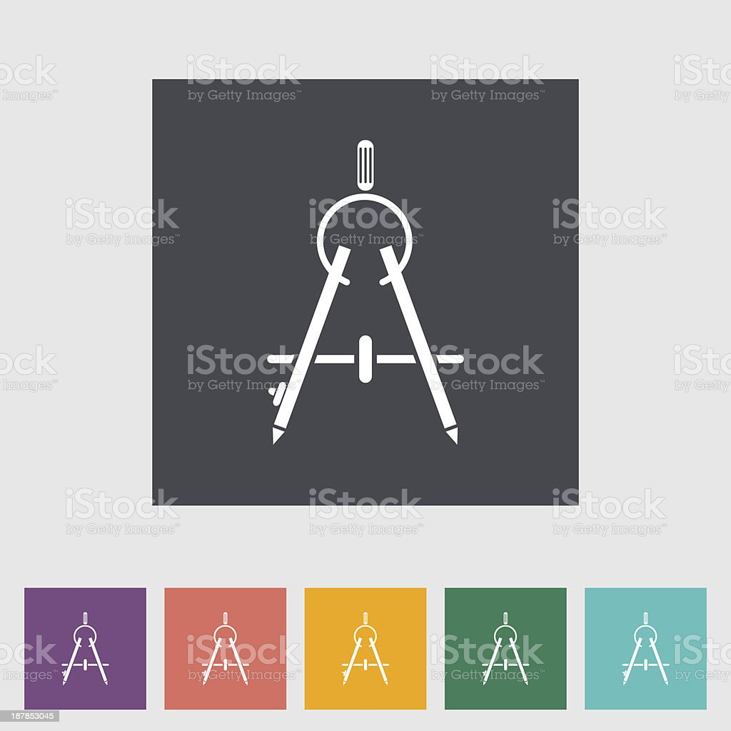 Compass in a variety of colors vector art illustration
