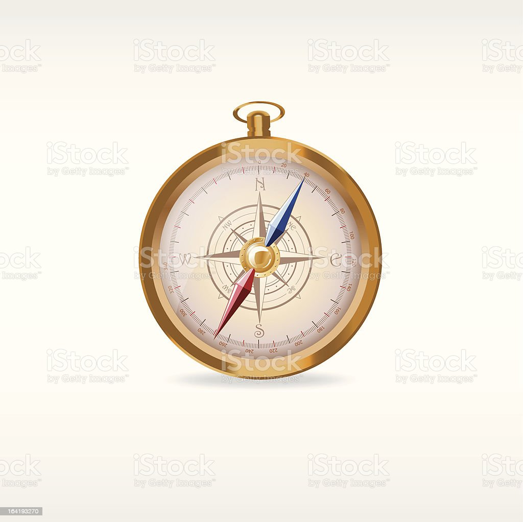 Compass, magnetic needle royalty-free stock vector art