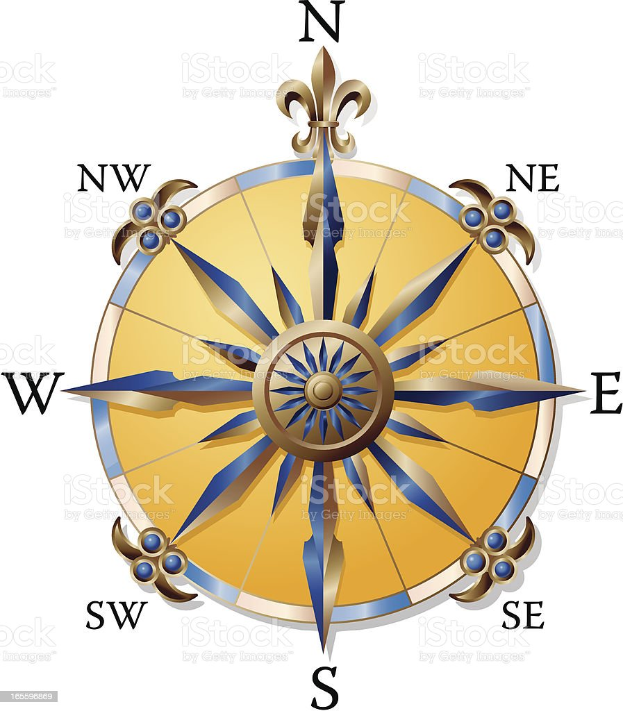 Compass of Discovery royalty-free stock vector art